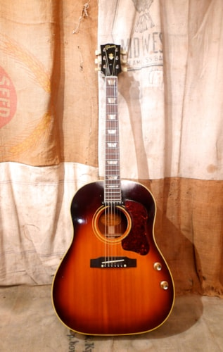 1964 Gibson J-160E Sunburst, Excellent, Hard, $4,800.00