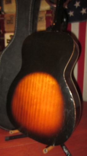 1964 Harmony Stella Small Bodied Tenor Acoustic Guitar Sunburst, Excellent, Soft, $595.00