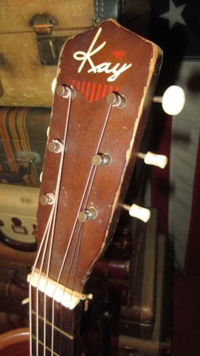 1964 Kay Small Bodied Parlor Guitar 3/4 Size Natural, Excellent, Soft, $649.00