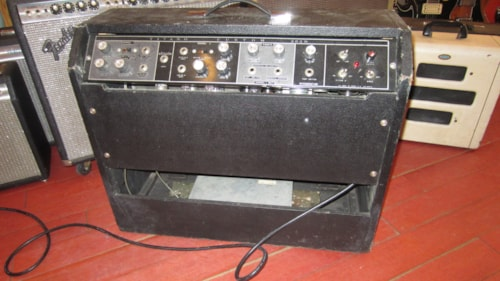 1964 Magnatone Titano Custom 262R 2x12 Combo Amp Black & Grey w/ Reverb and Pitch Shift Vibrato