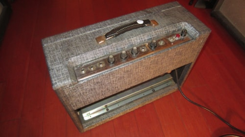 1964 Supro Model 56422TR or 1273 Tremolo Reverb Amp Grey and