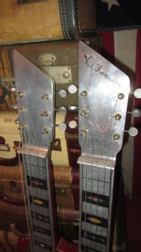 1964 Vox Humana Double Neck Lap Steel Guitar Red and Chrome, Excellent, $995.00