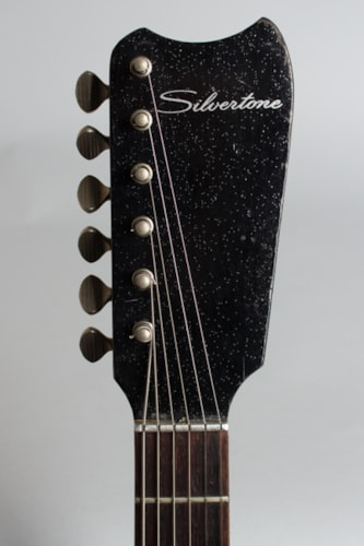 1965 Danelectro Silvertone Model 1448 black lacquer with sparkles Excellent GigBag $450.00