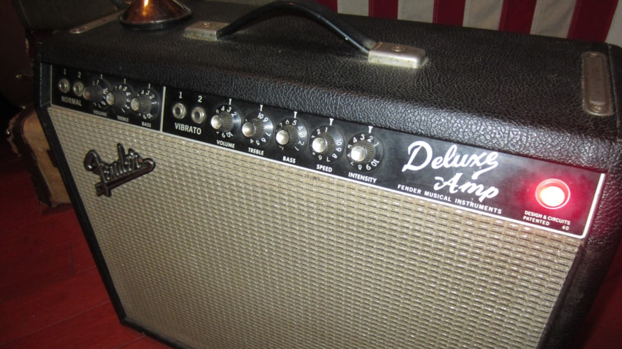 1965 Fender® Deluxe Amp Blackface, Excellent, $2,395.00