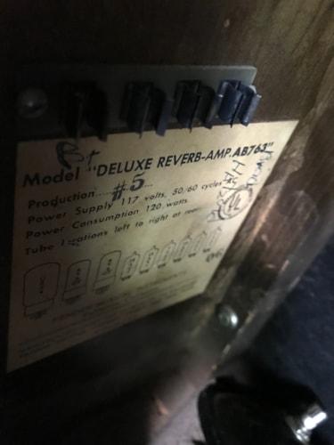 1965 Fender Deluxe Reverb Good