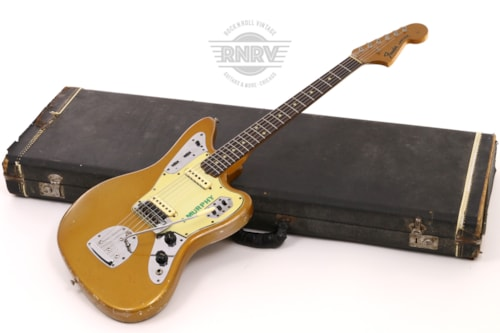 1965 Fender Jaguar Firemist Gold, Good