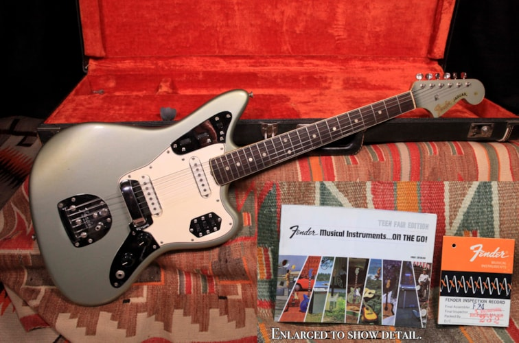 1965 Fender Jaguar Ice Blue Metallic, Excellent, Original Hard