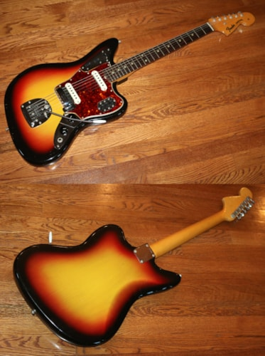 1965 Fender® Jaguar® Sunburst, Excellent, Original Hard