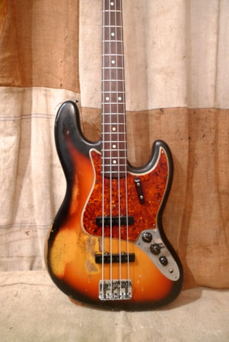 1965 Fender® Jazz Bass® Sunburst, Good, Original Hard, $8,200.00