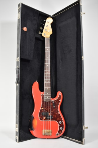 1965 Fender Precision Bass Fiesta Red Refin Vintage Electric Guitar w/OHSC