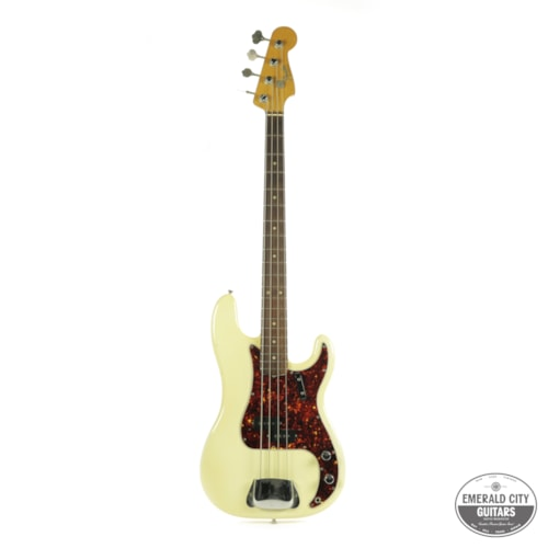 1965 Fender Precision Bass Olympic White, Very Good, Original Hard, $10,950.00