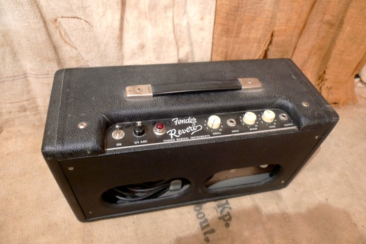1965 Fender Reverb Unit Blackface, Very Good, $1,250.00