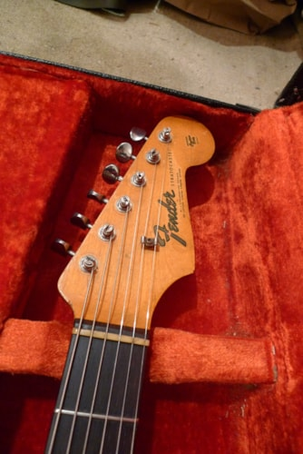 1965 Fender® Stratocaster® Black - Refin, Good, Hard, $5,200.00