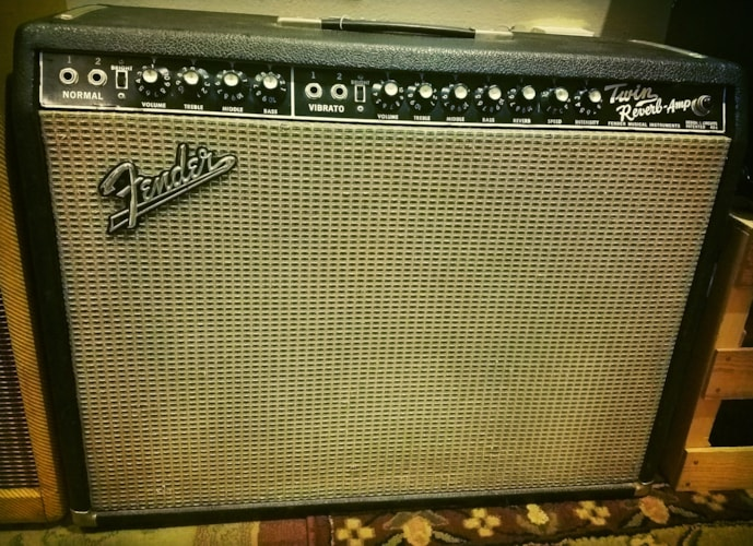 1965 Fender® Twin Reverb® Blackface, Very Good, $1,899.00