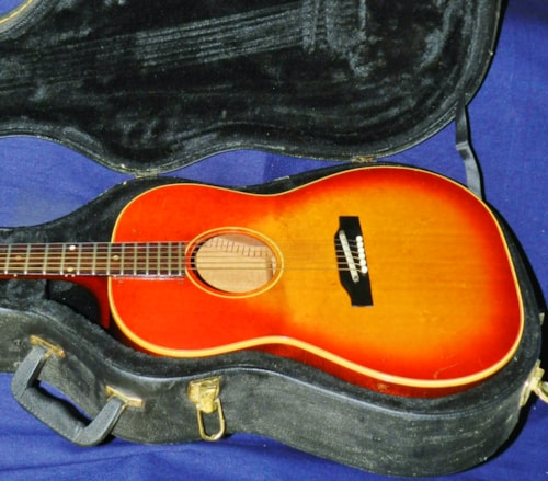 1965 Gibson  B-25  Cherry Sunburst, Very Good, Hard Shell Case!