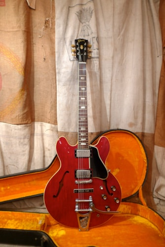 1965 Gibson ES-335 TDC   Cherry Red, Very Good, Original Hard, $13,500.00
