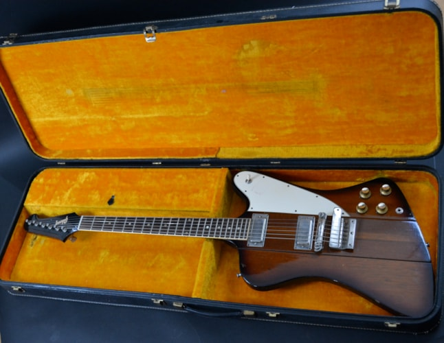 1965 Gibson Firebird III Walnutburst, Excellent, Original Hard