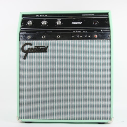 1965 Gretsch 6170 Pro Bass Amp Surf Green, Excellent, $599.00