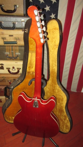 1965 Hagstrom Viking Hollowbody Electric Red, Excellent, Original Hard, $1,195.00