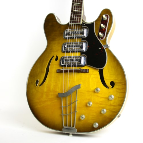 1965 Harmony H-75 Iced Tea Sunburst