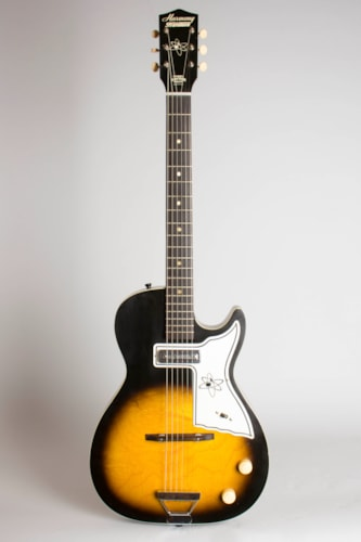 1965 Harmony Stratotone Mars H-45 sunburst lacquer Excellent GigBag $800.00