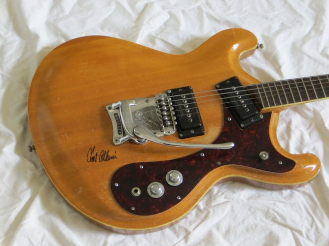1965 Mosrite Joe Maphis natural, Good, Original Hard, Call For Price!