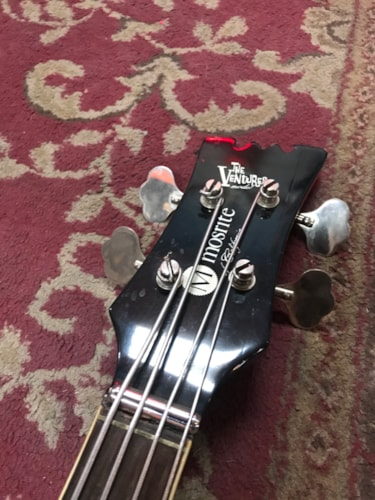 1965 Mosrite Ventura MK1 Bass Sunburst, Very Good, Hard