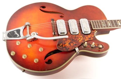 1965 Silvertone 1454 Red Burst, Very Good, GigBag