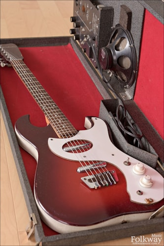 1965 Silvertone Model 1457 Amp in Case Excellent, Original Hard, Call For Price!
