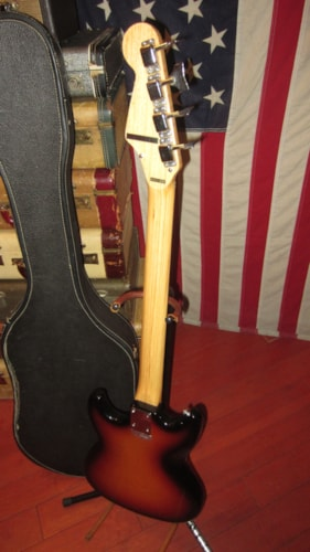 1965 Teisco EB-120 Electric Bass Sunburst, Excellent, Original Soft, $595.00