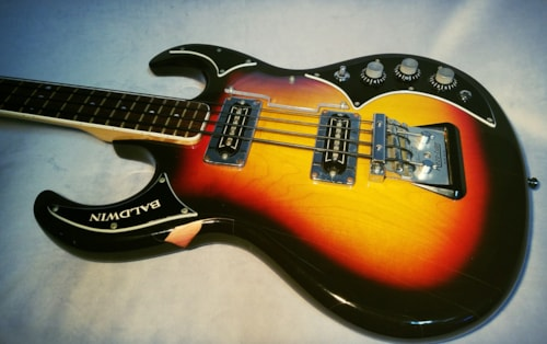 1966 BALDWIN Baby Bison Sunburst, Good, Original Hard, $699.00