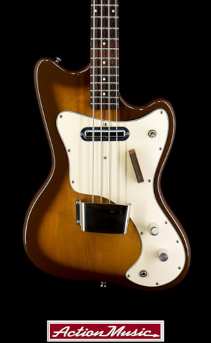 1966 Danelectro 1442L Bass Tobacco burst, Very Good, $699.00