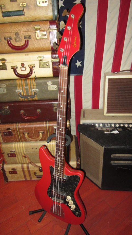 Visa Credit Card Login >> 1966 Egmond Typhoon Electric Bass Double Pickup Red ...
