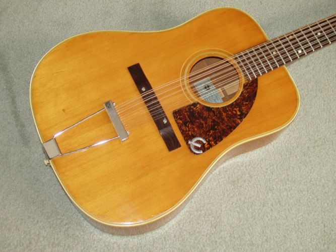 1966 Epiphone Bard 12 string natural, Excellent, Original Soft, Call For Price!