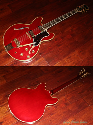 1966 Epiphone Sheraton Cherry Red, Excellent, Original Hard
