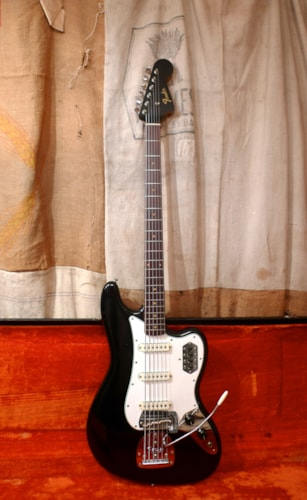 1966 Fender Bass VI Black, Excellent, Original Hard
