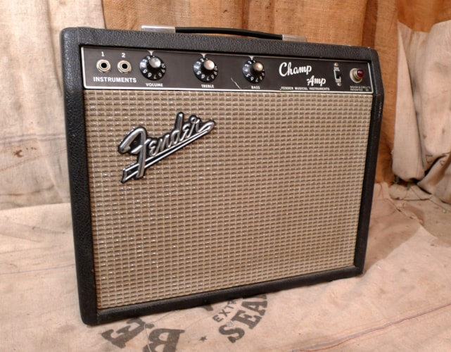 1966 Fender® Champ® Amp Blackface, Very Good, $825.00