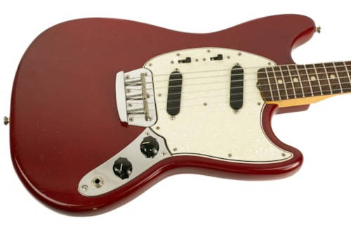 1966 Fender Duo Sonic II Dakota Red, Very Good, Original Hard