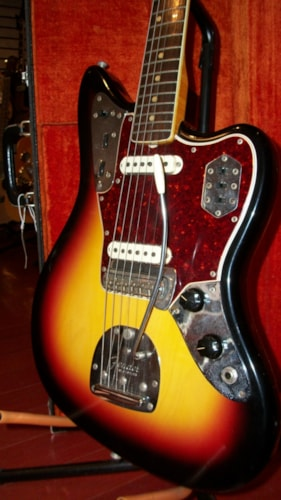 1966 Fender® Jaguar® Sunburst, Excellent, Original Hard, $3,995.00