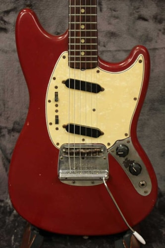 1966 Fender Mustang Dakota Red, Good, Gig Bag