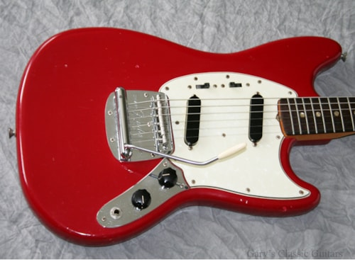 1966 Fender® Mustang® (#FEE0407) Red, Excellent, GigBag