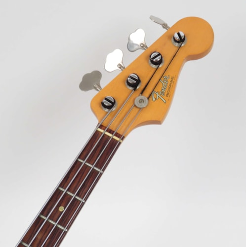 1966 Fender Precision Bass Olympic White, Very Good, Original Hard