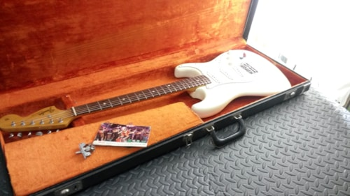1966 Fender® Stratocaster® Olympic White, Near Mint, Original Hard, Call For Price!