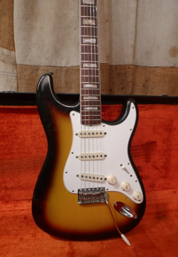 1966 Fender Stratocaster Sunburst, Excellent, Original Hard, $17,950.00