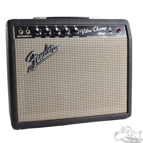 1966 Fender® Vibro Champ® Black, Excellent, Call For Price!
