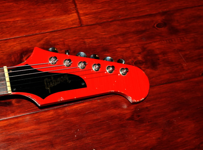 1966 Gibson Firebird V  (#GIE0899) Cardinal Red, Very Good, Original Hard, $11,900.00