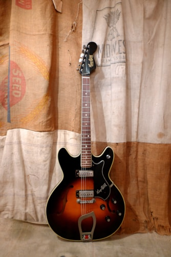 1966 Hagstrom Viking Sunburst, Very Good, GigBag
