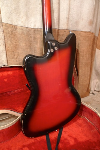 1966 Harmony Silhouette Redburst, Very Good, Original Soft, $875.00