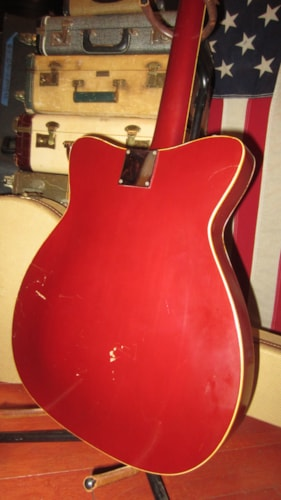1966 Martin GT-75 Hollowbody Electric Red, Excellent, Hard, $2,199.00