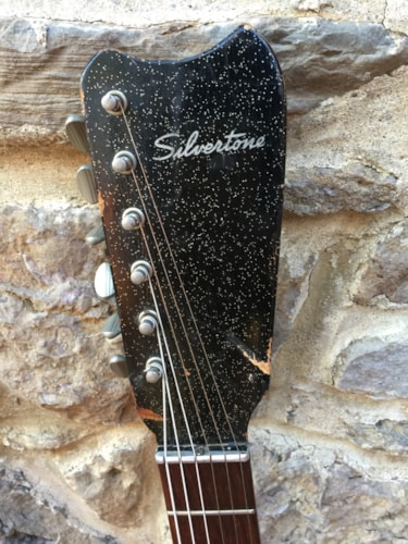 1966  Silvertone Danelectro 1451 Black Sparkle, Very Good